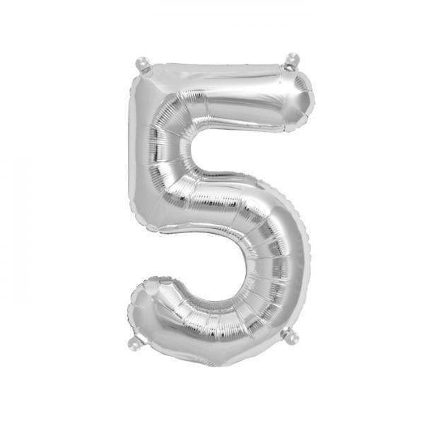Zahlenballon 5