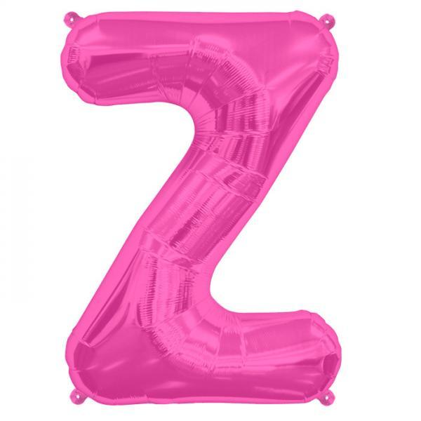 Buchstabe Z Folienballon Pink XXL