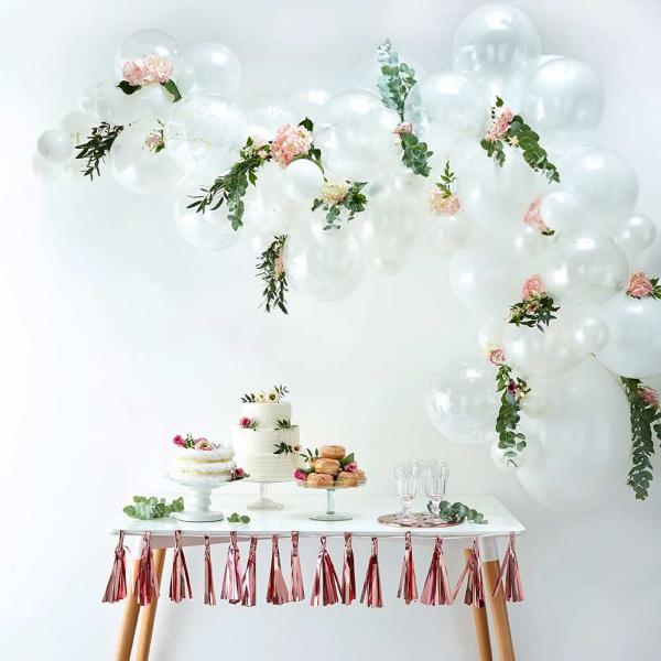 Ballon Girlande Set DIY Weiss