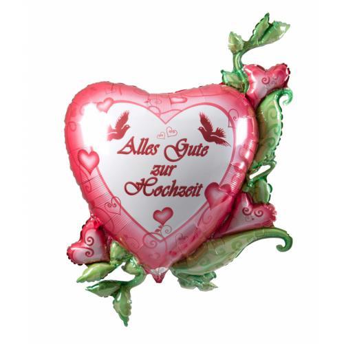 Alles gute Zur Hochzeit Herz Folienballon