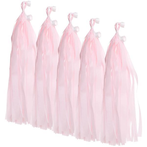 5er Set tassels rosa