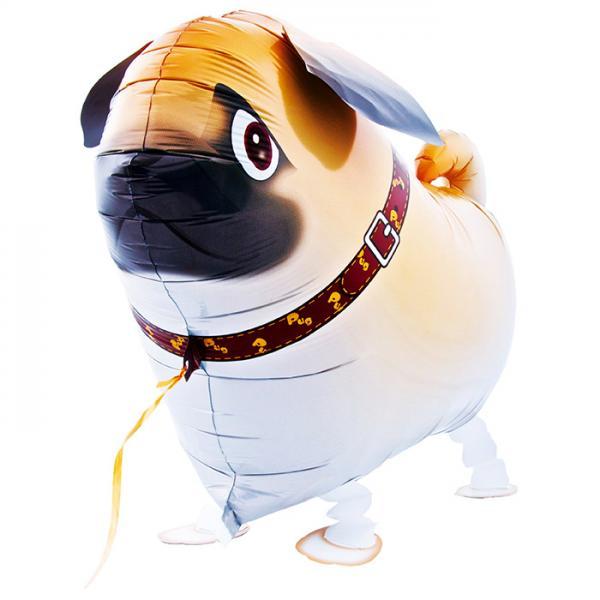 Mops Hund Folienballon Airwalker
