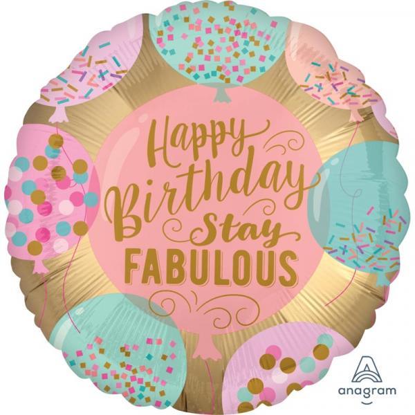 Happy birthday stay fabolous ballon