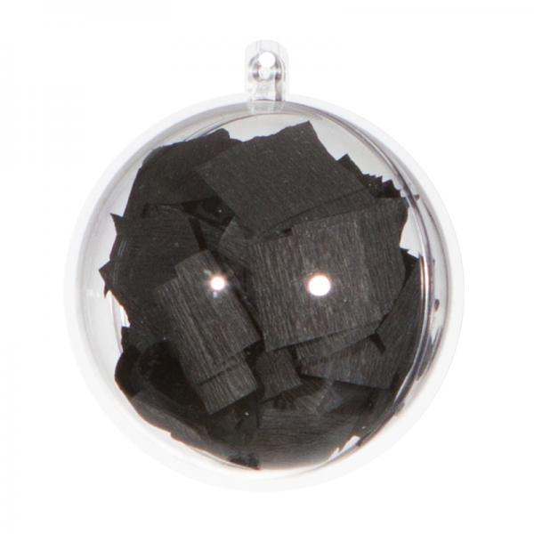 Ballongewicht / Geschenkkugel Konfetti schwarz