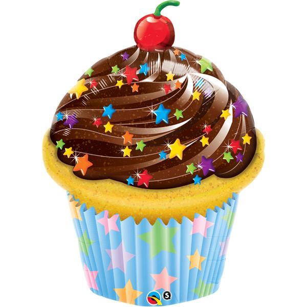 Cupcake Sterne Folienballon