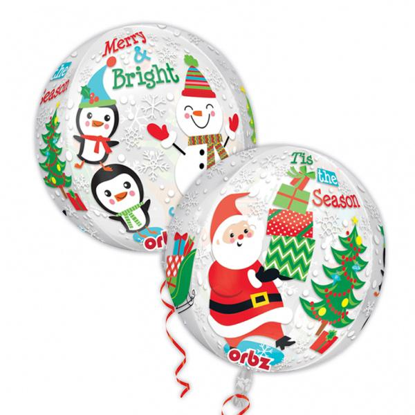 Frohe Weihnachten Orbz Kugel Folienballon