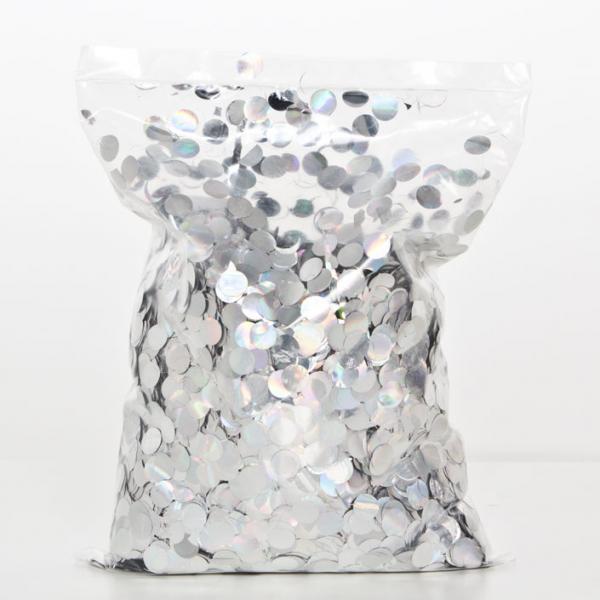 Konfetti Silber rund 500 g Packung