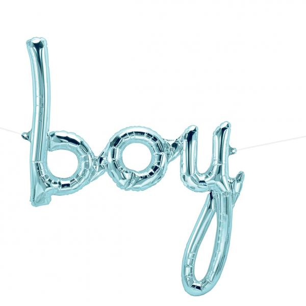 Boy schriftzug ballon