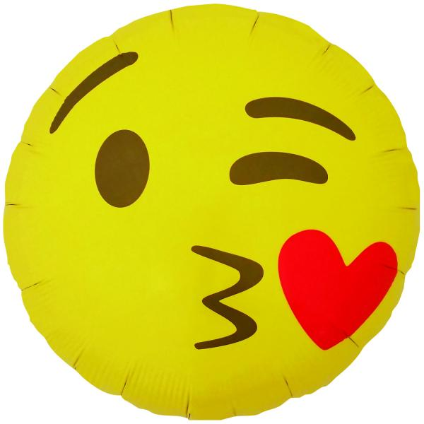 Emoji Kissing Heart Balllon