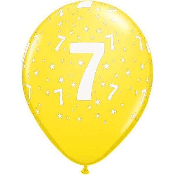 Zahl 7 Stars Festive bedruckter Ballon