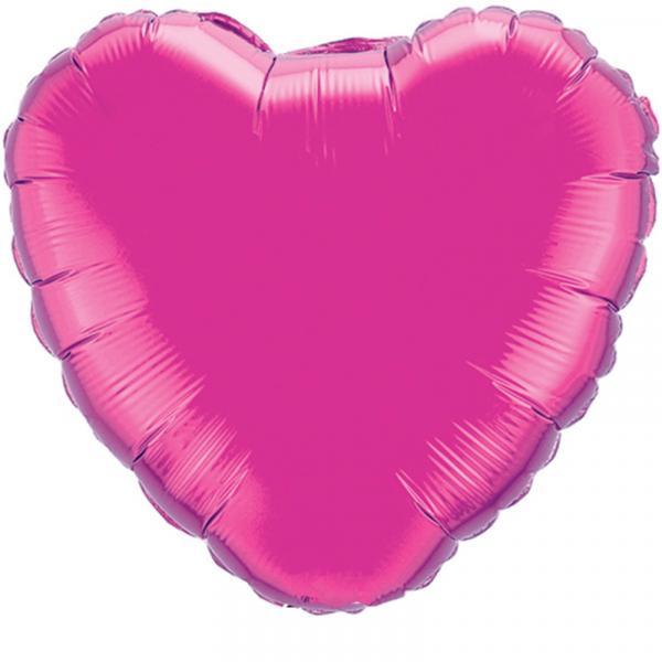 Herzballon Pink