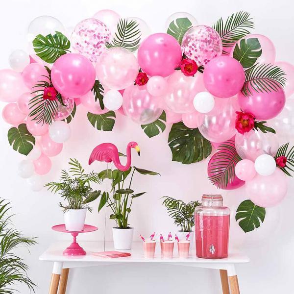 Ballon Girlande Set DIY Pink