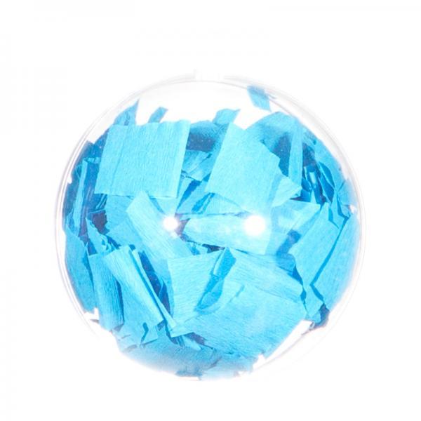 Ballongewicht / Geschenkkugel Konfetti hellblau