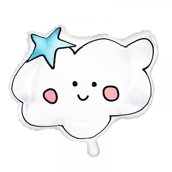 Wolke mit Gesicht Folienballon