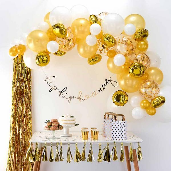 Ballon Girlande Set DIY Gold