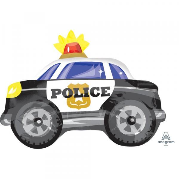 Polizei Auto Ballon