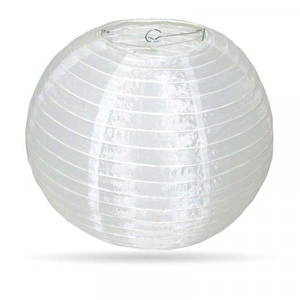 Lampion Weiß Nylon 50cm