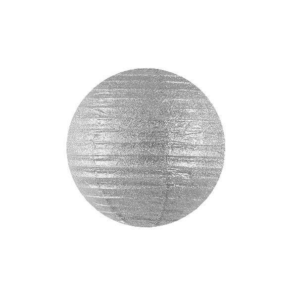 Lampion Silber Glitzer