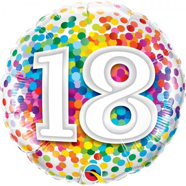 Zahl 18 Ballon
