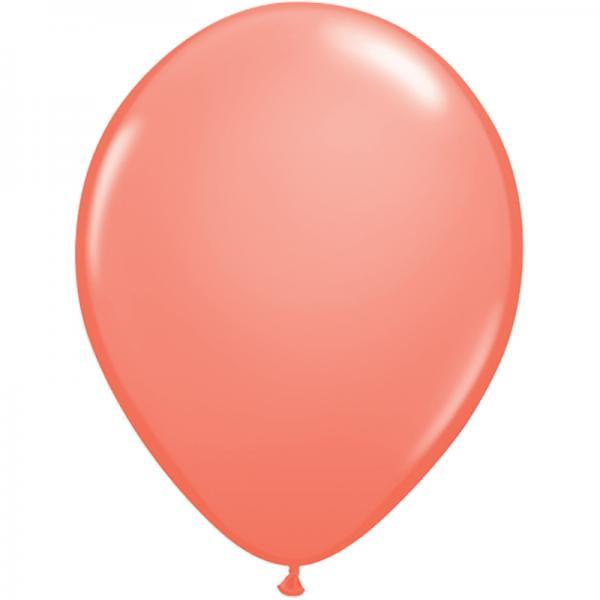 Luftballon Koralle
