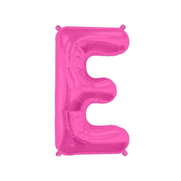 Buchstabe E Folienballon Pink