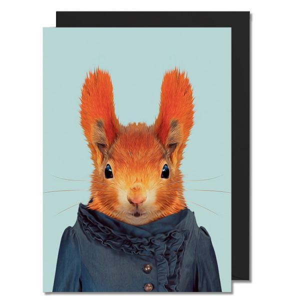 Postkarte Zoo Portraits - Eichhörnchen