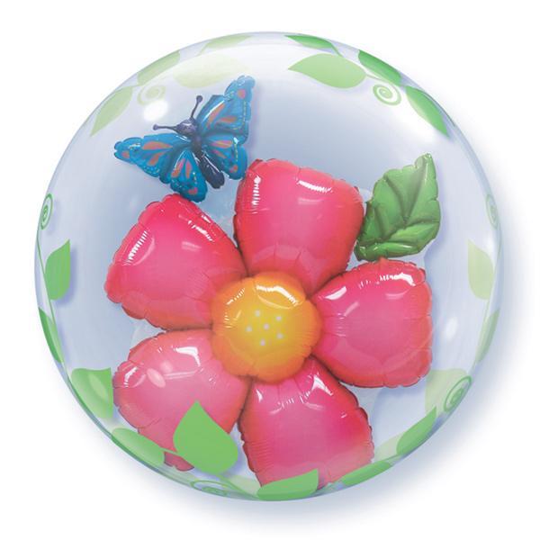 Blume im Ballon Bubble Ballon